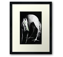 Hellhound ! Or just a tall dog monster friend Framed Print