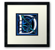 Celtic Peacocks Letter D Framed Print