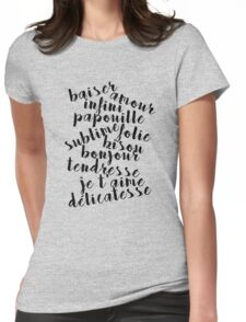 French love words Womens Fitted T-Shirt