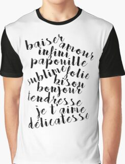 French love words Graphic T-Shirt