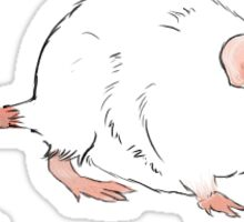 White Rat Sticker