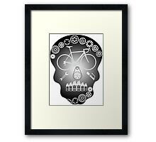 Grey Skull Framed Print