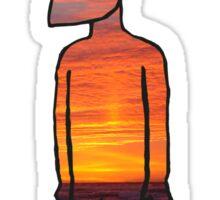 strange man with the sunset  Sticker