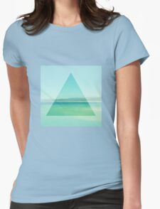 Ocean Triangle Womens Fitted T-Shirt