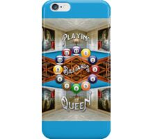 Playing Billiards with the Queen Versailles Palace Paris iPhone Case/Skin