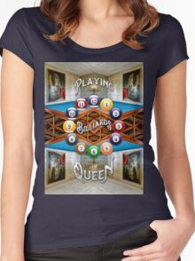Playing Billiards with the Queen Versailles Palace Paris Women's Fitted Scoop T-Shirt