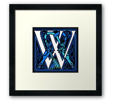 Celtic Peacocks Letter W Framed Print