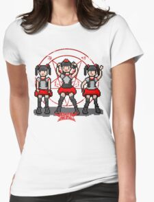 """Baby """"Pixel"""" Metal !! (White) Womens Fitted T-Shirt"""