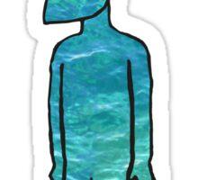 strange man with water Sticker