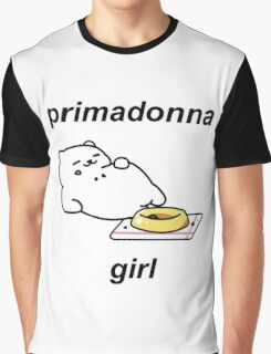 Neko Atsume - Tubbs (primadonna girl) Graphic T-Shirt