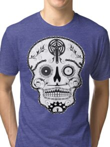 Cogs and chains skull 2 Tri-blend T-Shirt