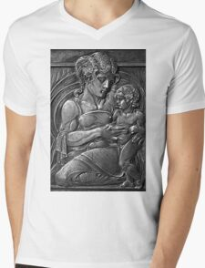 Mother & Child Mens V-Neck T-Shirt
