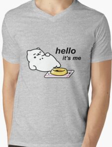 Neko Atsume - Tubbs (hello...it's me) Mens V-Neck T-Shirt