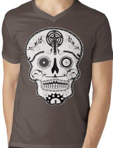 Cogs and Chains skull Mens V-Neck T-Shirt
