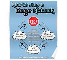 How to Calm a Rage Attack Poster