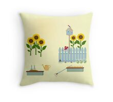 AFE Garden Scene Throw Pillow