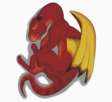 Sleeping Dragon (Red) Baby Tee