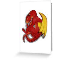 Sleeping Dragon (Red) Greeting Card