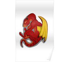 Sleeping Dragon (Red) Poster