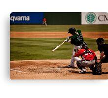 Baseball Hit Canvas Print