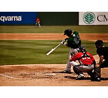 Baseball Hit Photographic Print