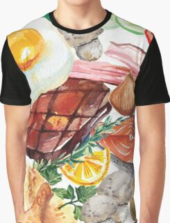 Painted Food Graphic T-Shirt