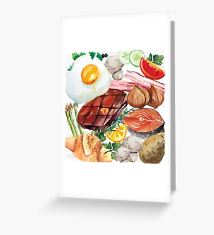 Painted Food Greeting Card