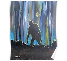 Bigfoot by Moonlight Poster