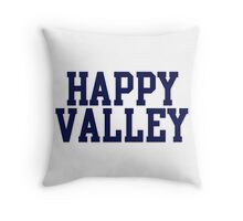 happy valley navy varsity Throw Pillow