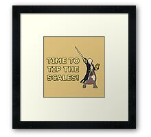 ROBIN | Super Smash Taunts | Time to tip the scales! Framed Print