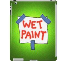 CAUTION don't touch! (wet paint) * iPad Case/Skin