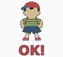 NESS | Super Smash Taunts | OK! Kids Tee