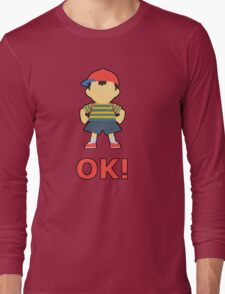 NESS | Super Smash Taunts | OK! Long Sleeve T-Shirt