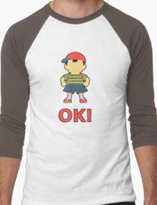 NESS | Super Smash Taunts | OK! Men's Baseball ¾ T-Shirt