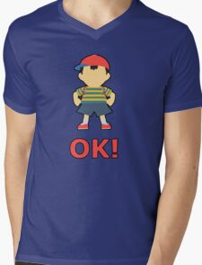 NESS | Super Smash Taunts | OK! Mens V-Neck T-Shirt
