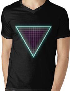 Neon Triangle Mens V-Neck T-Shirt