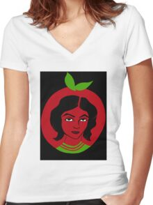 fairest of them all Women's Fitted V-Neck T-Shirt