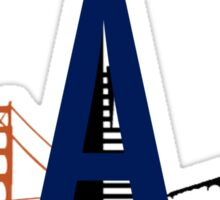 Bay Area Landmarks Sticker
