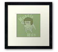 Ironic Muscle Man Framed Print