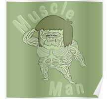 Ironic Muscle Man Poster