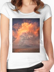 Stormy sunset clouds over Moreton Bay Women's Fitted Scoop T-Shirt