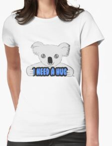I Need A Hug Womens Fitted T-Shirt