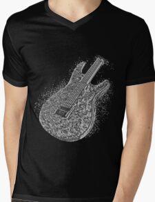 Guitar Liquid Metal Mens V-Neck T-Shirt