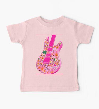 Guitar of Pink Flowers Baby Tee
