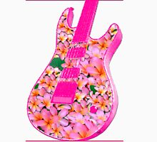 Guitar of Pink Flowers Womens Fitted T-Shirt