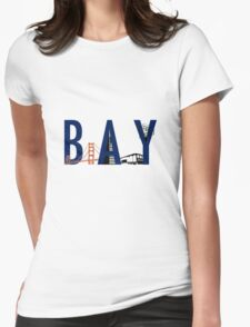 Bay Area Landmarks Womens Fitted T-Shirt