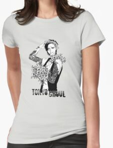 Uta - black and white - Tokyo Ghoul Womens Fitted T-Shirt