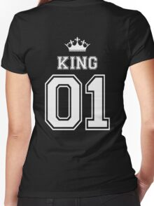 King Women's Fitted V-Neck T-Shirt