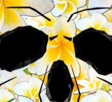 Skull Frangipani Yellow Flowers 1 Sticker