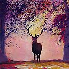 Deer coming from the glades - Style II by artshop77
